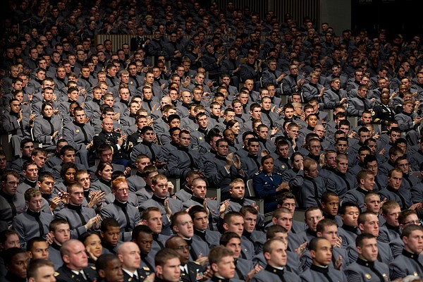 West Point Cadets Applaud President Print by Everett