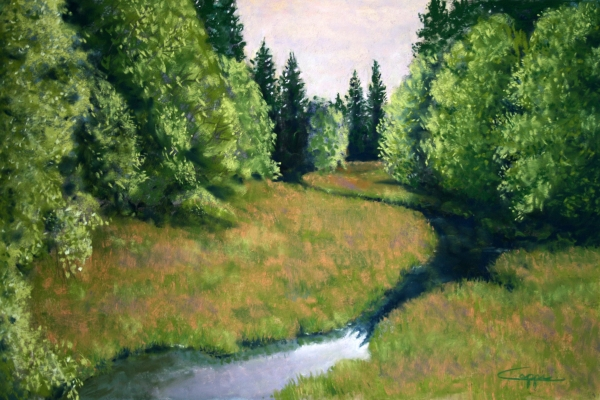 Willamette Valley Summer Painting  - Willamette Valley Summer Fine Art Print
