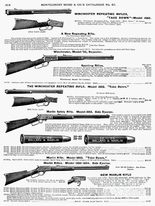 Winchester Rifles Print by Granger