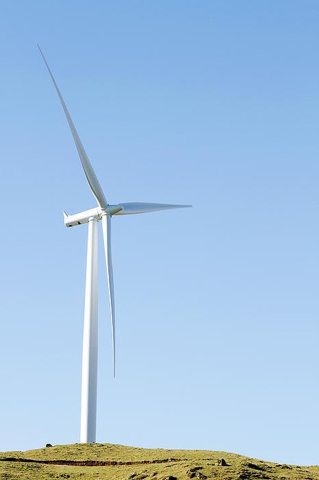 Wind Turbine  Print by Les Cunliffe