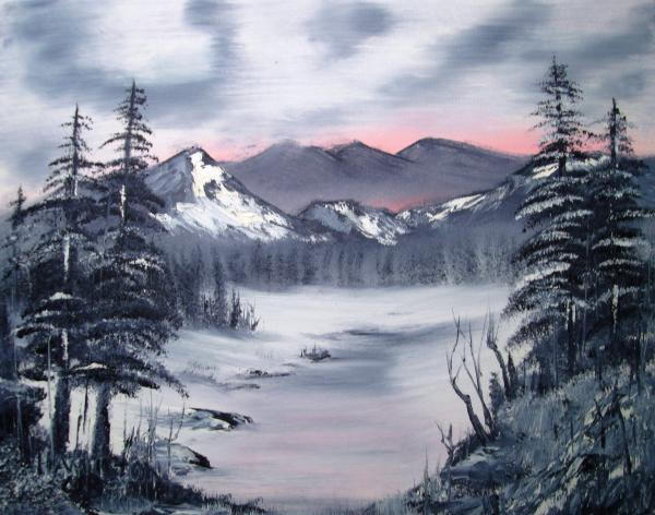 Winter In Three Colors Print by Larry Hamilton