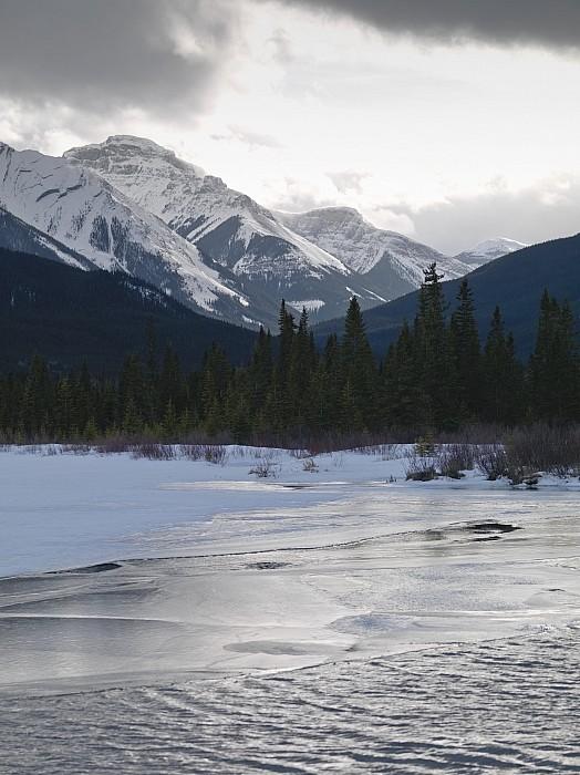 Winter Landscape, Banff National Park Print by Keith Levit