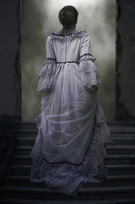 Woman On Steps Print by Joana Kruse