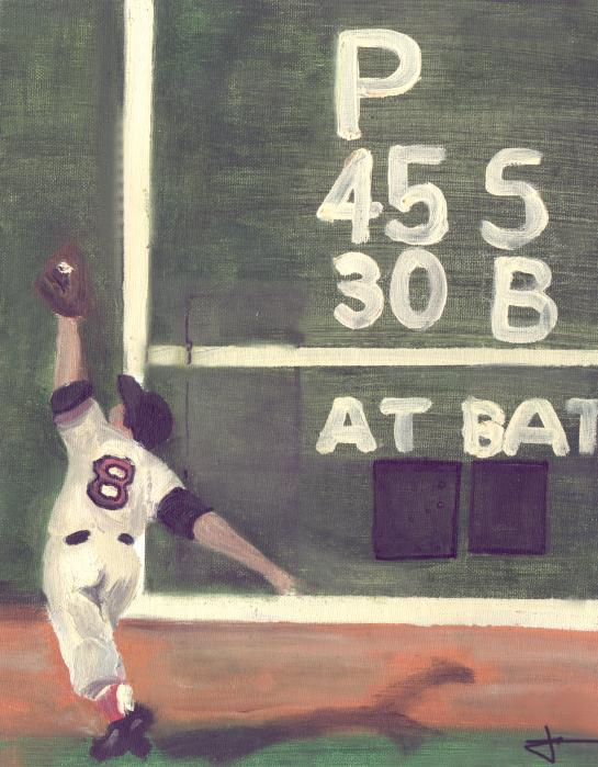 Yaz And The Green Monster Painting