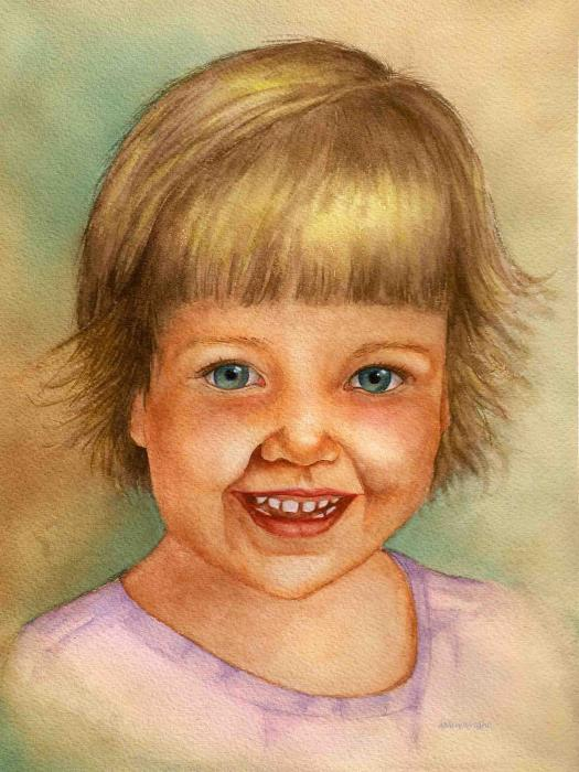 Young Girl Painting - Young Girl Fine Art Print - Nan Wright