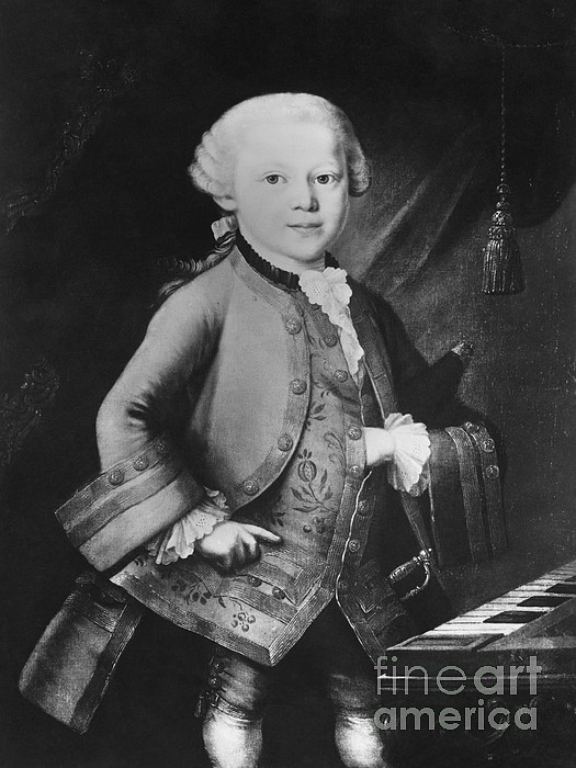Young Wolfgang Amadeus Mozart, Austrian Print by Omikron