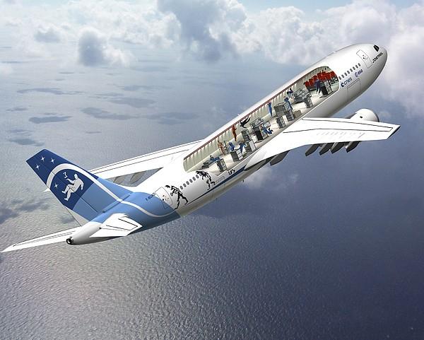 Zero-g Airbus Aircraft, Artwork Print by David Ducros