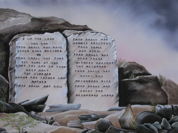 10 commandments painting   10
