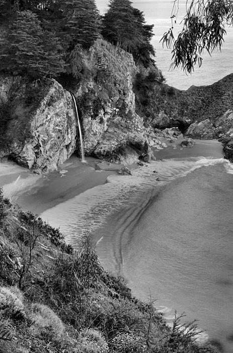 Mcway Falls - Big Sur Print by Stephen  Vecchiotti