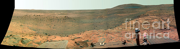 Panoramic View Of Mars Print by Stocktrek Images
