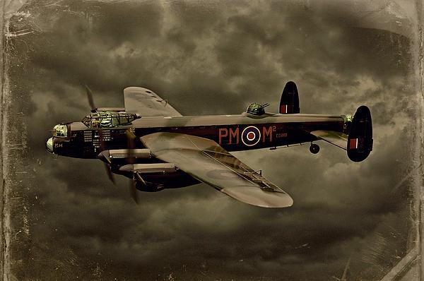 103 Squadron Avro Lancaster Print by Steven Agius