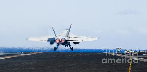 An Fa-18e Super Hornet Launches Print by Stocktrek Images