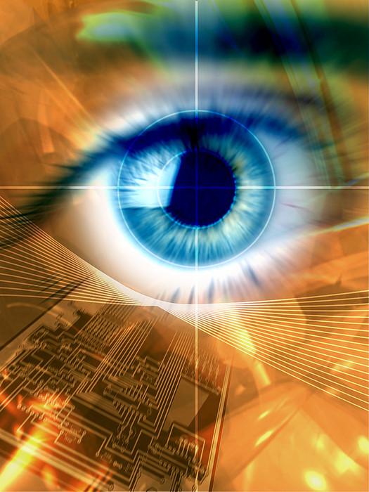 Biometric Eye Scan Print by Pasieka