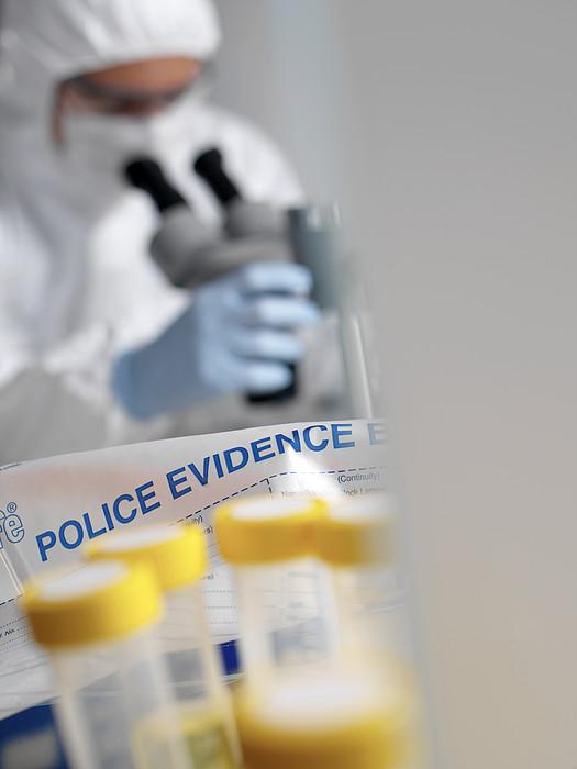 Forensic Evidence Print by Tek Image