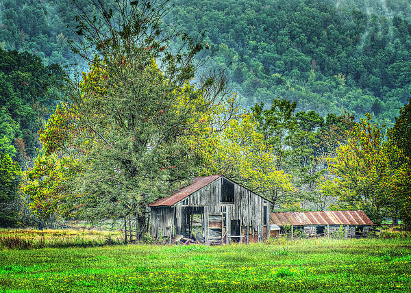 1209-1298 - Boxley Valley Barn 2 Print by Randy Forrester