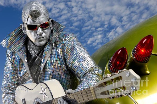 Silver Elvis Print by Oleksiy Maksymenko