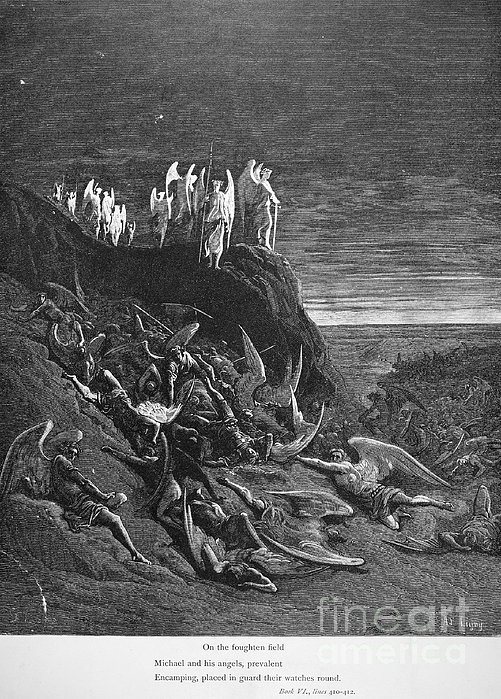 Milton: Paradise Lost Print by Granger