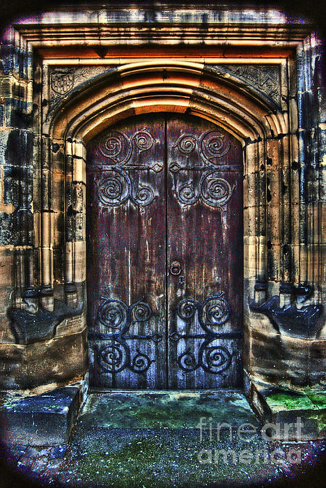 14th Century Door Print by Yhun Suarez