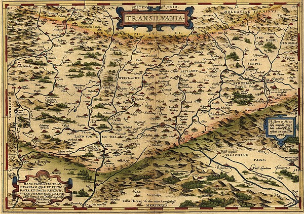 1570 Map Of Transylvania, Now Print by Everett