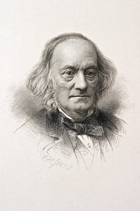 1880 Sir Richard Owen Engraved Portrait Print by Paul D Stewart