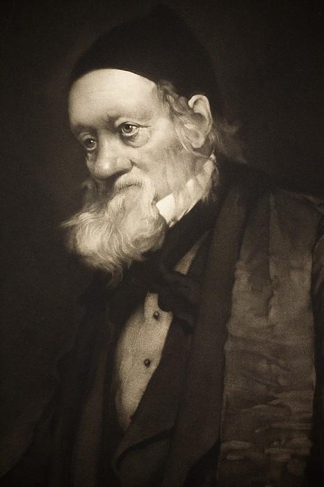 1889 Sir Richard Owen Portrait Old Age Cu Print by Paul D Stewart
