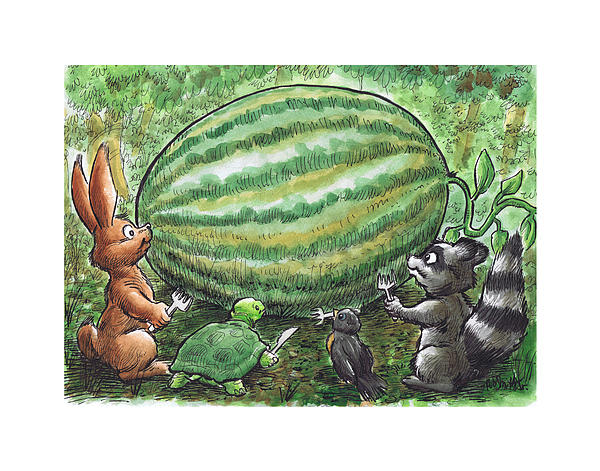 19 - Cypress Creek Wma - Watermelon Print by Rob Smith