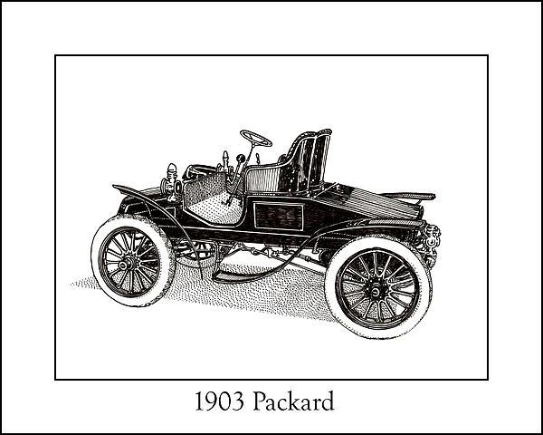 1903 Packard Print by Jack Pumphrey