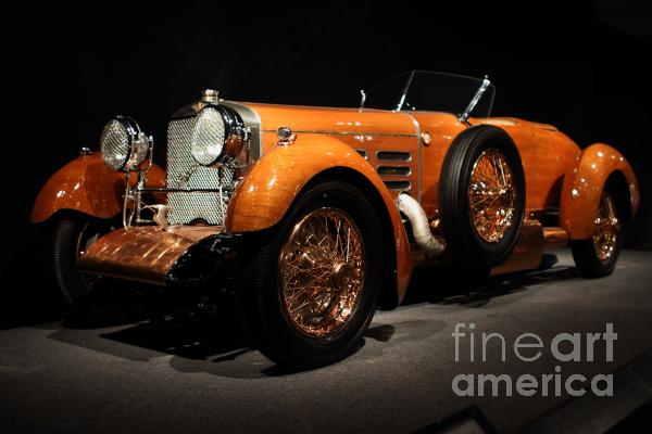 1924 Hispano Suiza Dubonnet Tulipwood . Front Angle Print by Wingsdomain Art and Photography