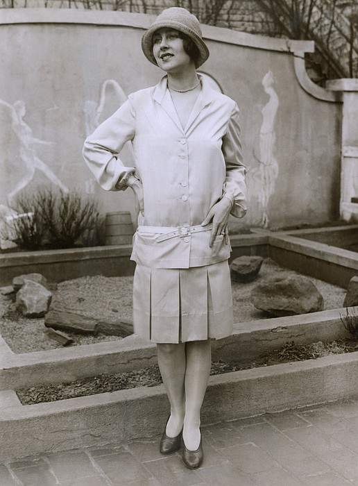 1927 Suit With A Mid-knee Pleated Skirt Print by Everett