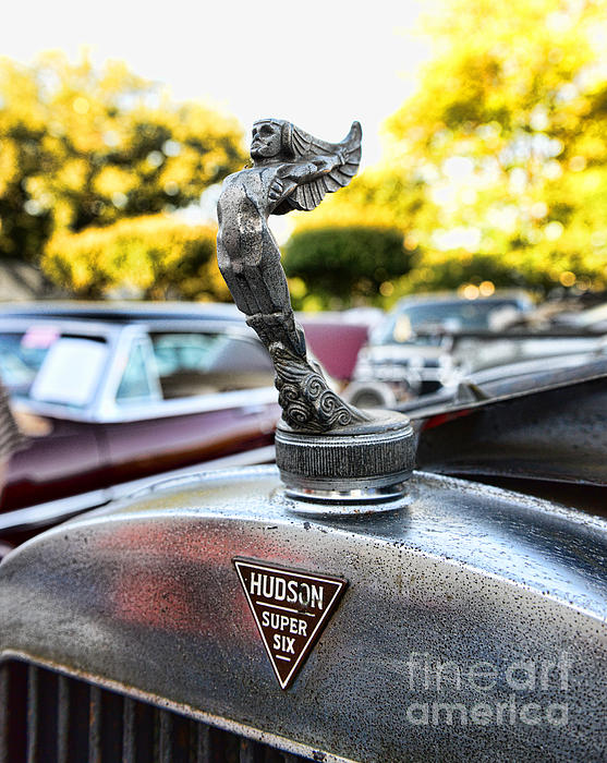 1928 Hudson Super Six Roadster Hood Ornament Print by Paul Ward