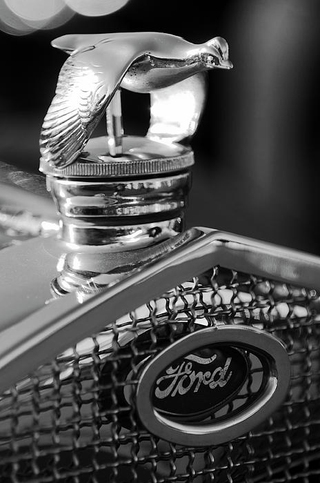 1930 Ford Quail Hood Ornament 3 Print by Jill Reger