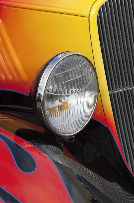 1933 Ford Headlights : Ford coupe headlight print by jill reger