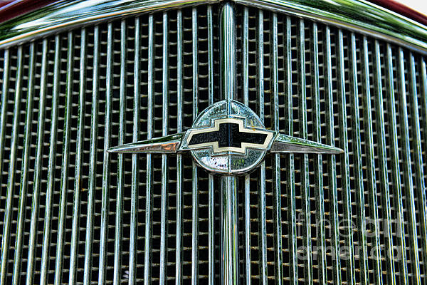 1934 Chevrolet Grill  Print by Paul Ward