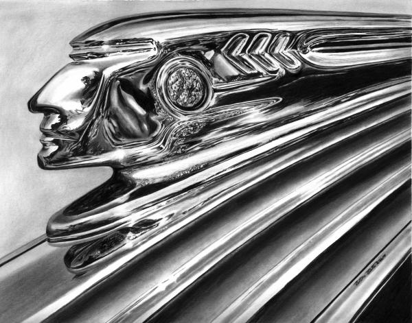 1937 Pontiac Chieftain Abstract Print by Peter Piatt