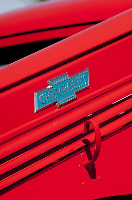 1938 Chevrolet Pickup Truck Emblem Print by Jill Reger