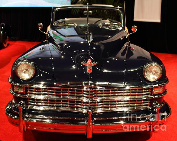1941 Cadillac Series 62 Convertible Coupe . Front View Print by Wingsdomain Art and Photography