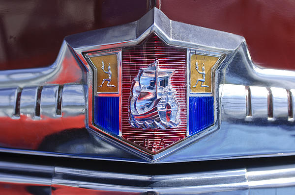 1949 Plymouth P-18 Special Deluxe Convertible Emblem Print by Jill Reger