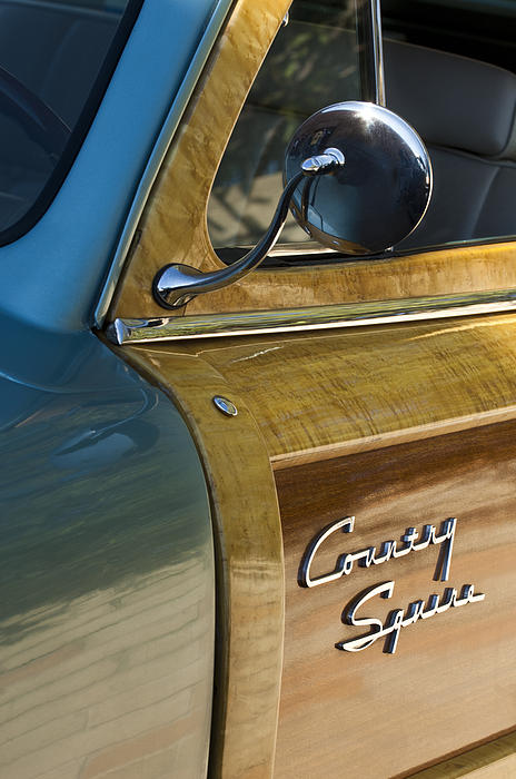 1951 Ford Woodie Country Sedan Print by Jill Reger