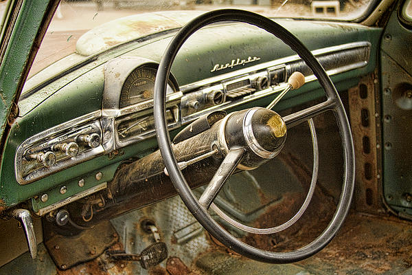 1951 Nash Ambassador Interior Print by James BO  Insogna