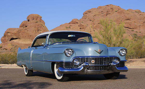 1954 Cadillac Coupe Deville Print by Jill Reger