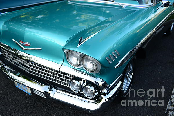 1955 Chevy Belair Front End Print by Paul Ward
