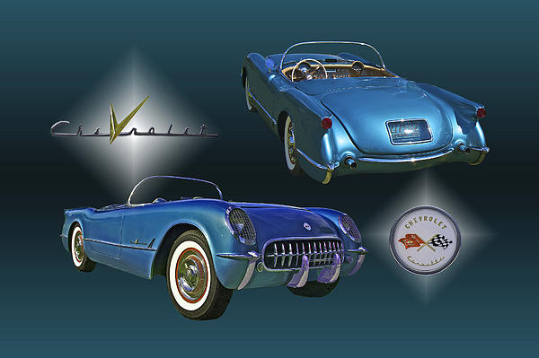 1955 Corvette - 68 Of 700 Built Print by Mike  Capone