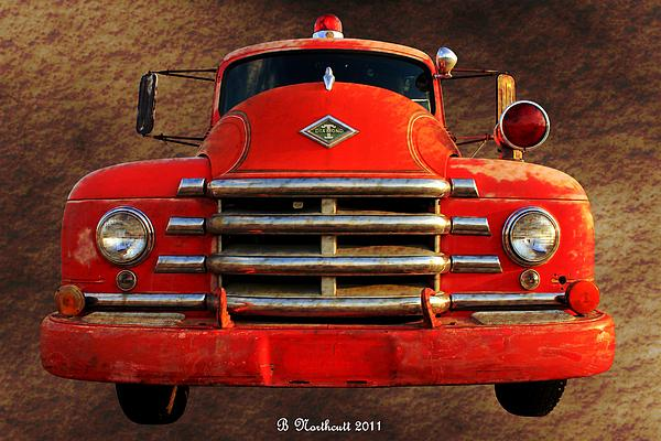 1955 Diamond T Grille - The Cadillac Of Trucks Print by Betty Northcutt
