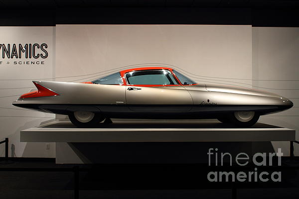 1955 Ghia Streamline X Gilda Concept Car - 7d17260 Print by Wingsdomain Art and Photography