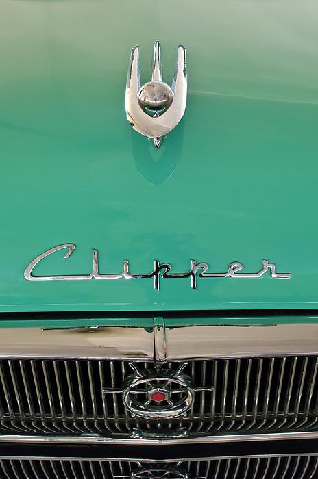 1955 Packard Clipper Hood Ornament Print by Jill Reger