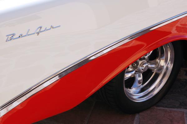 1956 Chevrolet Belair Convertible Wheel Print by Jill Reger
