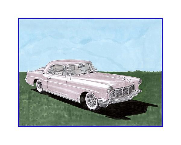 1956 Lincoln Continental Mk II Print by Jack Pumphrey