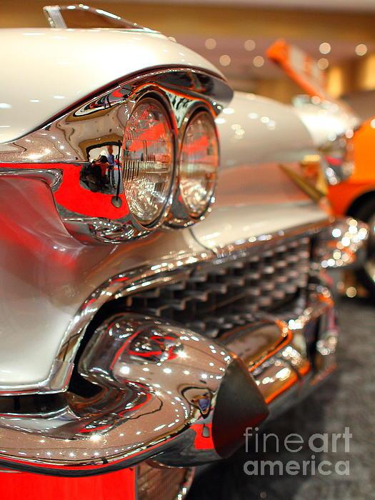 1958 Cadillac Eldorado Biarritz Convertible . Silver . 7d9427 Print by Wingsdomain Art and Photography
