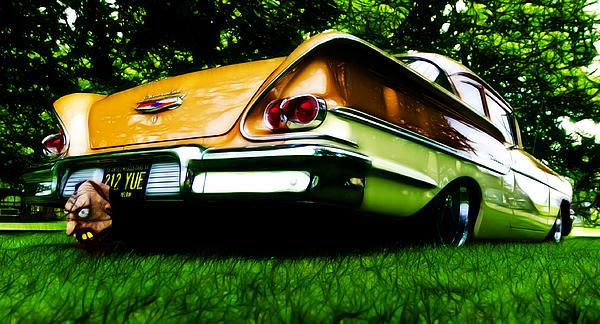 1958 Chevrolet Delray Print by Phil 'motography' Clark