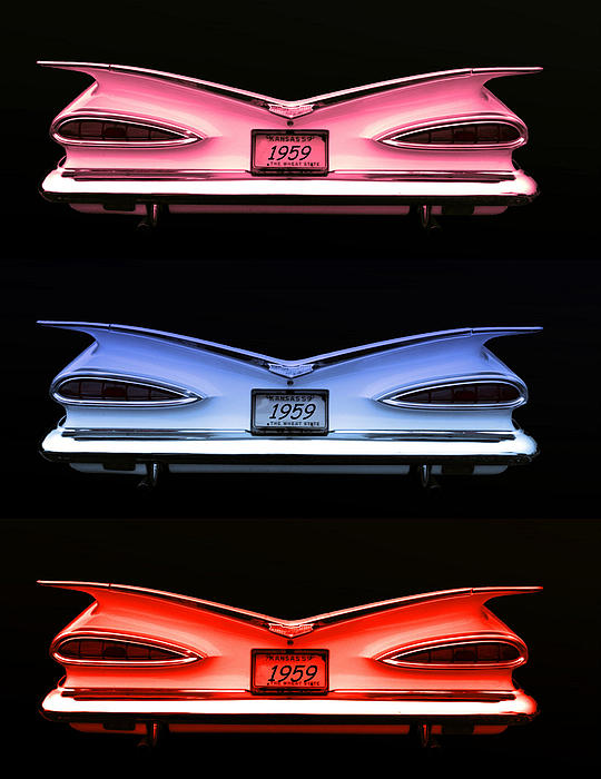 1959 Chevrolet Eyebrow Tail Lights Print by Tim McCullough